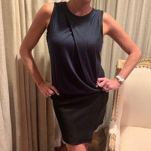 Helmut Lang teal and black dress